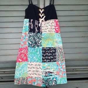 Lilly Pulitzer patchwork dress Size 2
